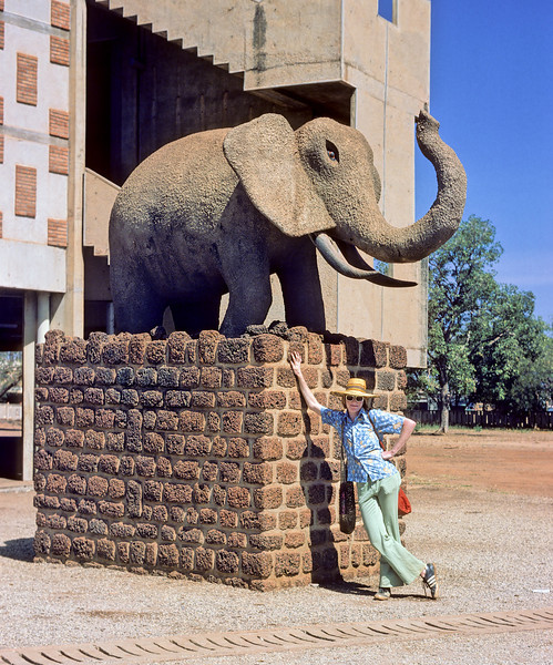 At an undisclosed location in Ouagadougou Burkina Faso during my African CUSO days. If anyone knows where this statue is located please email me the coordinates.