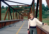 Me on a walking bridge in Edmonton Alberta.  My friend Carl took this shot in 1979.  I had just returned from over a year in Barbados.  This was shortly before buying my first house.