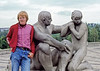 At the Vigeland sculptures in Oslo Norway.