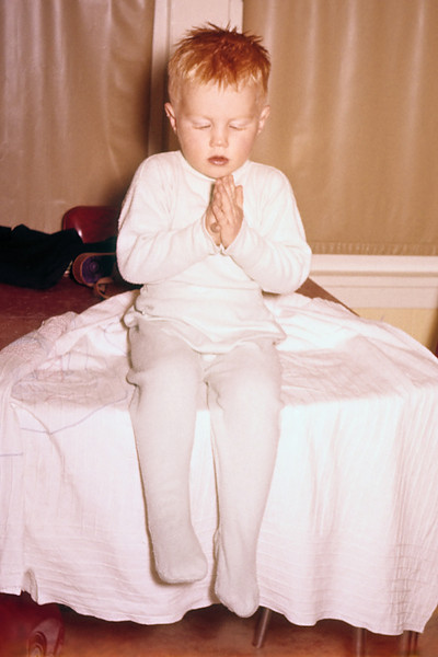 My ever so brief toddler religious period.