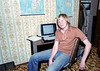 "Me in the ""Concept Control Room"" (a second bedroom) at 10634 69th Avenue Edmonton Alberta in 1980. Time really wreaks a body.  A similar pose today would reveal a partially decomposed bubble-butt-less boomer body. I fondly remember the terminal on the desk.  I used it to connect to the University of Alberta's MTS time-sharing system.  At the time MTS was one of the best mainframe terminal systems but it has long since disappeared. In 1980 I thought it was just a matter of years before terminals and PCs made working at home commonplace. Well, here we are 38 long years later, and remote work is still not entirely embraced. Management simply doesn't like it. They prefer their micro-serfs completely under their thumbs. Sectors that have embraced it, like the over-hyped ""gig economy,"" tend to pay less and offer crappier or no benefits. There are exceptions like superstar programmers that can write their own tickets and true creatives like writers."