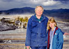 Me and Helen at Mammoth hot springs in Yellowstone National Park.