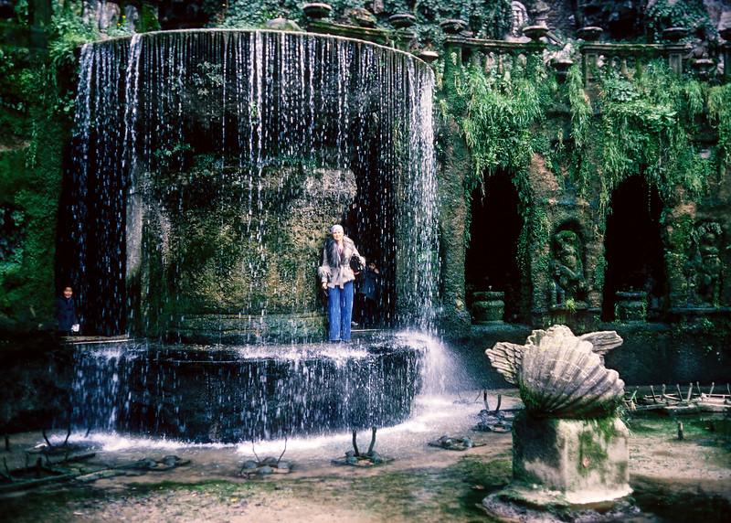 Aileen in a walkthrough fountain.