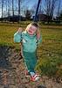 My daughter on swings.