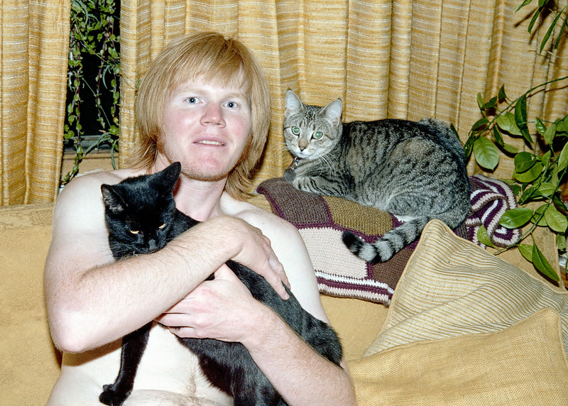 Me with my two cats Beely and Stippy.