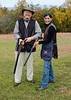Me and Mali on the skeet range. Prior to this outing I had not fired a shotgun in two decades.  It took about two dozen rounds to get back in the grove and start hitting my clay pigeons.  Mali is deadly with a shotgun.  She massacred her pigeons one after another.  Her instructor praised her fine shooting.