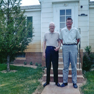 My grandmother Helen snapped this blurry Kodacolor picture of my father, the taller man, with his father in Redwash Utah in the spring of 1964. I have very few shots of the two of them together. In 1964 my grandfather was exactly the same age I am right now (2019). I like to think I am better preserved but it's probably just vanity.