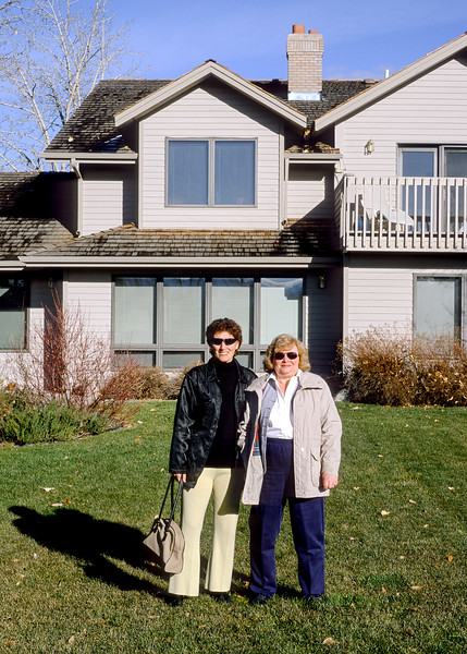 Mali and my mother in front of my mother's house in Bozeman. This was Mali's first trip to Bozeman.  We drove from Minneapolis to Bozeman over the long Thanksgiving weekend in 2001.  I remember our return trip was self-inflicted punishment. We left Bozeman in a snowstorm at 6:00 am and drove all the way to Minneapolis, roughly 1000 miles, in one butt numbing day: not recommended.