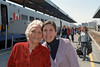 Mali with her mother Mahin at the Ottawa train station.