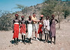 Frank with Kenyan Maasai inspecting a spear in 1978.