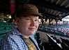 Jacob at Angel stadium.