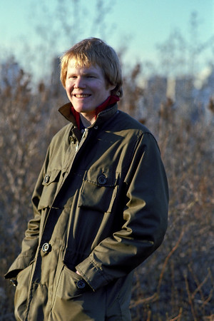 Me on the south bank of the river valley near Edmonton's High Level Bridge in 1977.