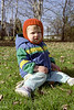 Jacob in our Glenburnie front yard.