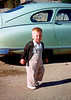 Me in front of green Nash 1955.