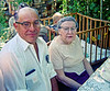 Bernard and greatgrandmother Raver.  They were often photographed together because they shared a birthday.