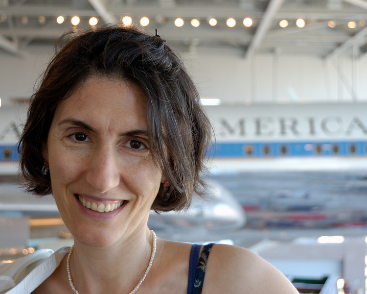 My lovely wife in the Air Force One pavillion of the Reagan Library.