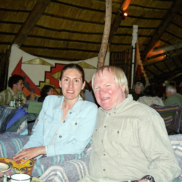 At the Boma restaurant in Victoria Falls.