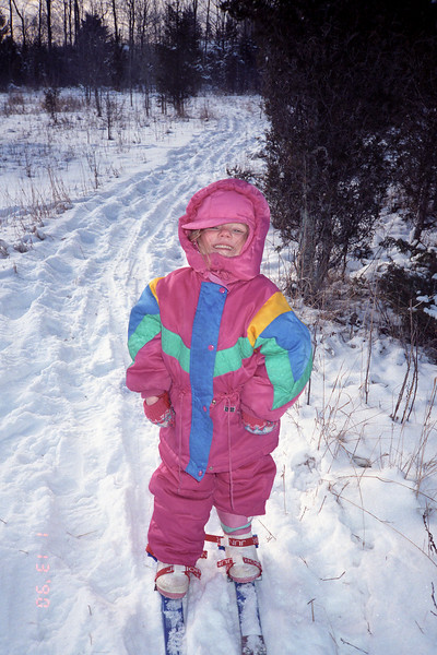 Helen goes skiing for the first time.