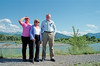 Aileen, Evelyn and myself on the banks of the Yellowstone in Livingston Montana. Taken during our trip to attend Hazel's funeral.