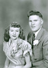 Evelyn and Frank 1952 wedding portrait.
