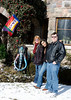 "Sue, Mali and Steve in front of the <a href=""http://castlegallery.com"">Castle Gallery</a> in Fort Wayne."