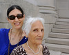 Mali and her mother Mahin on the steps of the Saint Louis Art Museum.