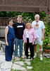 Jacob with his mother and grandparents on the day he graduated from high school.