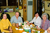 Ruth, Gert, Evelyn and Helen having diner at Gert and Hazel's house in 1980.