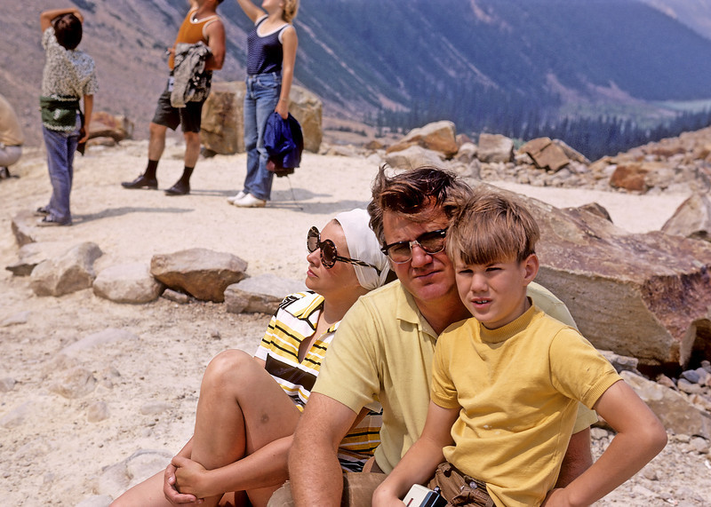 My parents and younger brother at Mount Edith Cavel.