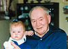 My daughter with her greatgrandfather.