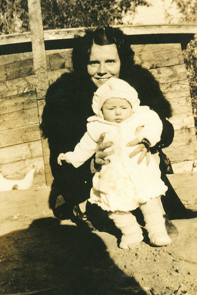 My grandmother Hazel with my mother.