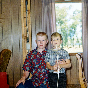 With my brother Steve in the Eggar house in the summer of 1967. We are still full-on geeky guys.