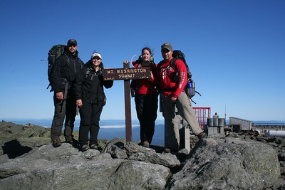 The gang climbing Mt Washington