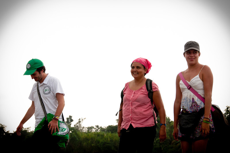 The Inter-Church Justice and Peace Commission began to accompany the Naya community after their displacement in 2001. The Commission petitioned for the Inter-American Human Rights Commission to grant an injunction to protect the community, which was then granted in 2002. Laura Chaparro (right), a lawyer with the Inter-Church Justice and Peace Commission, is responsible for the legal processes related to the 2001 massacre, and follows-up on the legal processes related to the granting of the land titles. She is hopeful that the land titling process, which began this month, will be completed this year.