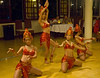 Traditional Vietnamese folk dancers in perhaps not exactly traditional costumes, Hoi An, Quang Nam province
