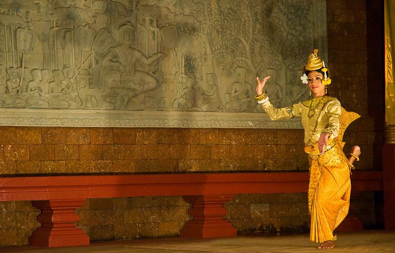 Traditional Khmer dancer, Raffles Hotel, Siem Reap, Cambodia