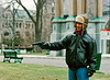 "Canadian assassin or ""Even with a gun, it's tough to be menacing wearing ear flaps like these.""<br /> <br /> From a student movie being shot on the streets of Montreal over a cold Thanksgiving weekend in 1993"