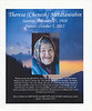 Theresa (Chenesh) Metatawabin February 25 1928 to October 5 2012. Program for funeral held in Fort Albany, Ontario 2012 October 9th. Front cover.