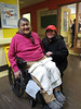 Denise visiting her mother Theresa Metatawabin at hospital in Fort Albany
