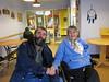 Paul Lantz with Theresa Metatawabin in Fort Albany.