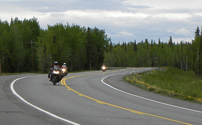 June 7, 2012:  Jim, Karl, & Tom - 3 riders from around York, PA nearing Glennallen on their way from Paxson (after a transit of the Denali Hwy) to Valdez.