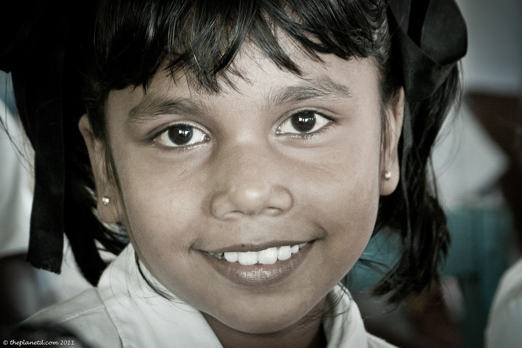 young girl from Sri Lanka