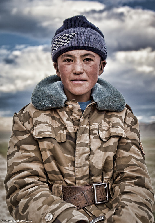 portrait of child in mongolia
