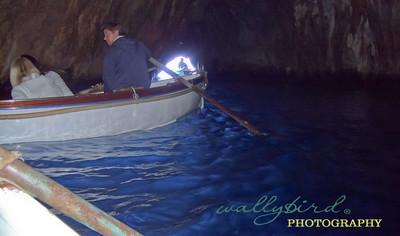 inside the blue grotto Capri, Italy