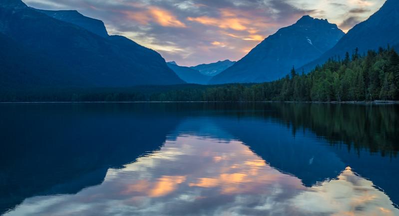 Sunrise at Lake McDonald