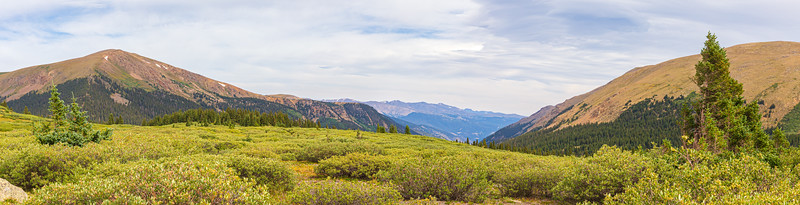 Panoramic view of Guanella Pass, Colorado, USA