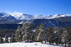 Rocky Mountain National Park in Winter, with Blowing Snow