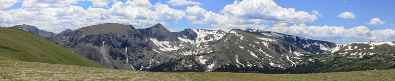 Panoramic views from Trail Ridge Road, Colorado, USA