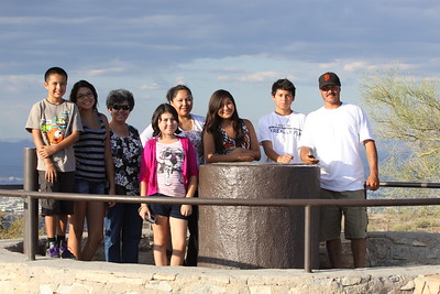 A family at South Mountain Park, Dobbins Lookout. They were there to have a picnic at the lookout.
