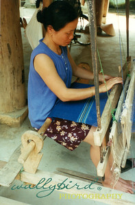 lady at the loom